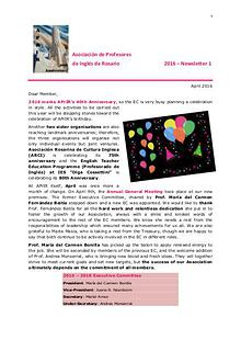 APrIR Newsletters: 2016 and back