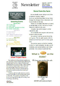 UT_Extention_SUMMER_2011 Oleo Acres May Newsletter