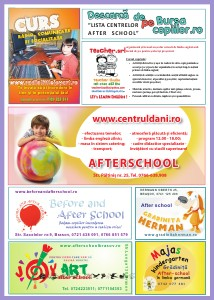 LISTA CENTRELOR AFTER SCHOOL DIN BRASOV