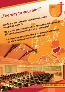 """CBS- Central European International College """"The Way to Your Aim"""""""