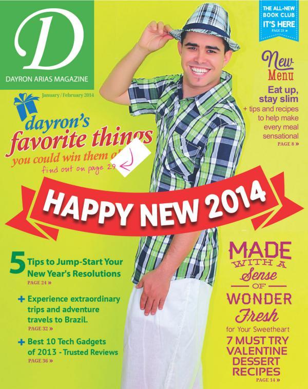 Dayron Arias Magazine January 2014