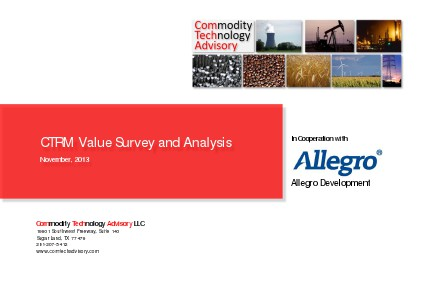 CTRM Value Survey and Anaysis