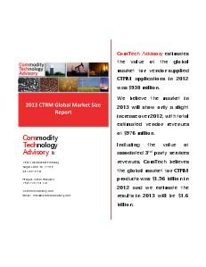 2013 CTRM Global Market Size