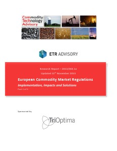 European Commodity Market Regulations - Part 1