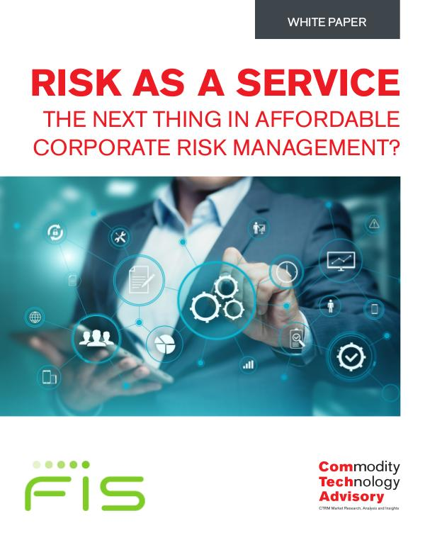 Risk as a Service – The Next Thing in Affordable C