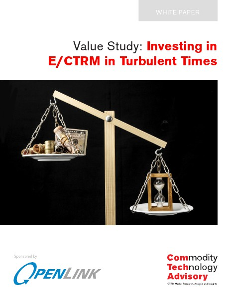 White Papers Value Study: Investing in ETRM / CTRM in Turbulent
