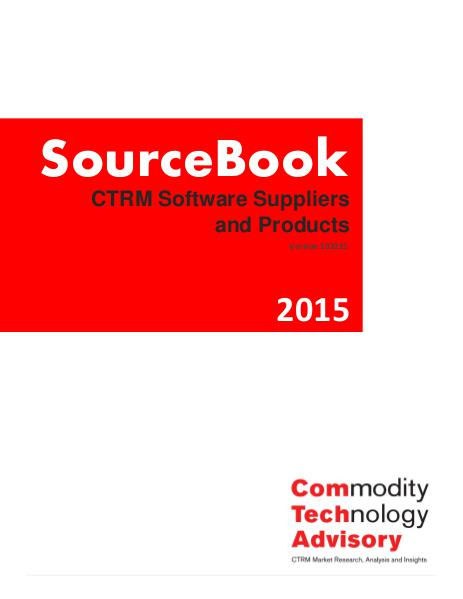 Reports Sourcebook 2015 - CTRM Software Suppliers