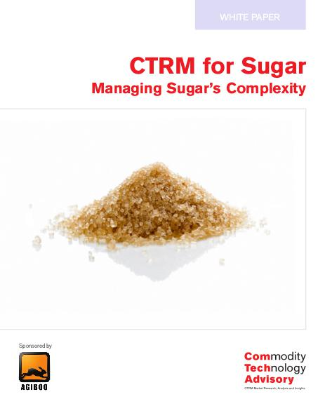 CTRM for Sugar – Managing Sugar's Complexity