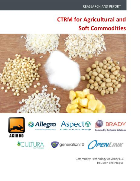 CTRM for Agricultural and Soft Commodities