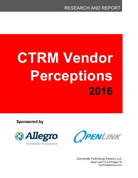 Reports 2016 Vendor Perception Report