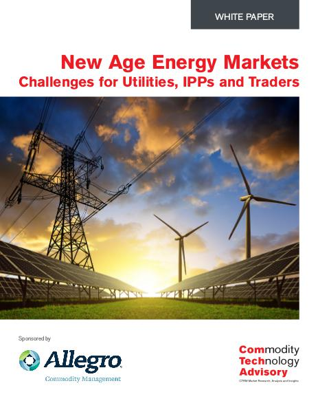 New Age Energy Markets - Challenges for Utilities,