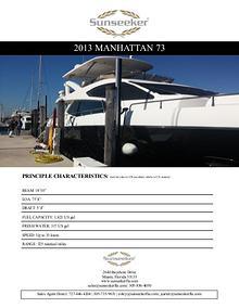 2013 Sunseeker Manhattan 73 For Sale
