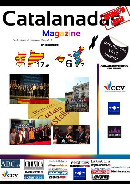 Catalanadas Magazine Nº 25 Semana 23 Junio 2014