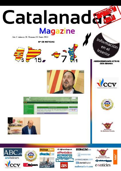 Catalanadas Magazine Nº 26 Semana 24 Junio 2014