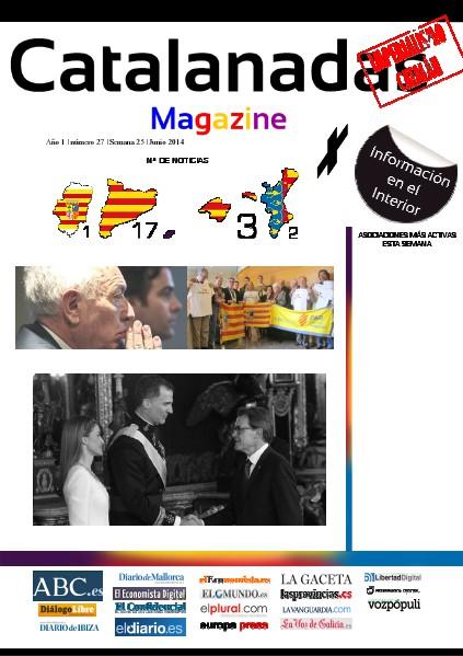 Catalanadas Magazine Nº 27 Semana 25 Junio 2014