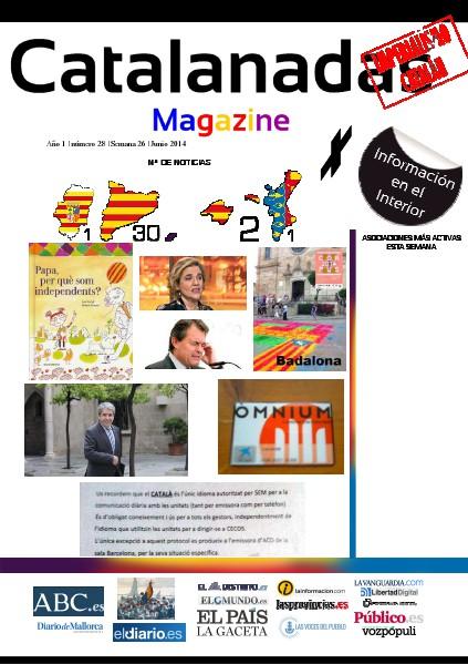 Catalanadas Magazine Nº 28 Semana 26 Junio 2014