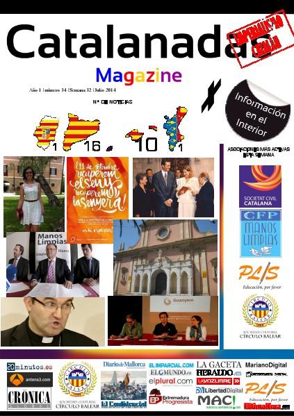 Catalanadas Magazine Nº 34 Semana 32 Agosto 2014