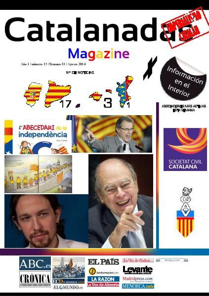 Catalanadas Magazine Nº 35 Semana 33 Agosto 2014