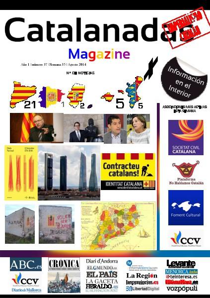 Catalanadas Magazine Nº 37 Semana 35 Agosto 2014