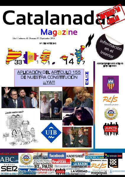 Catalanadas Magazine Nº 41 Semana 39 Septiembre 2014