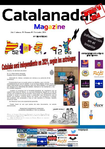 Catalanadas Magazine Nº 50 Semana 48 Noviembre 2014