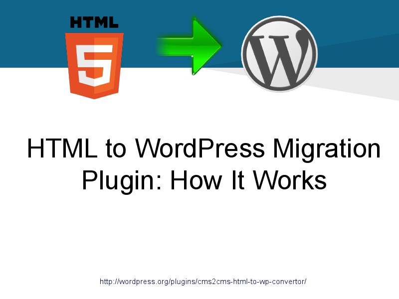 HTML to WordPress Plugin