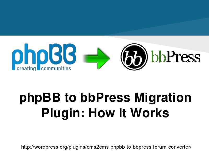CMS2CMS Migration Plugins: Why and How Swift phpBB to bbPress Transfer