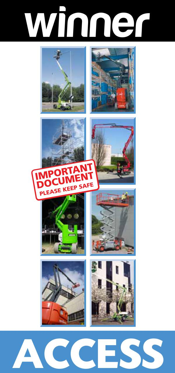 Winner Access Guide 2017 a full range of working at height access equipment