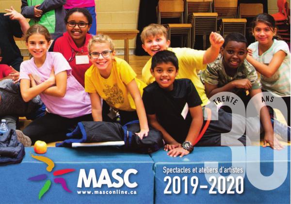 Spectacles et ateliers d'artistes de MASC 18 - 19 Spectacles et ateliers 2019 - 2020