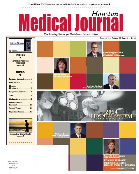 Medical Journal Houston Vol. 10, Issue 15, June 2014
