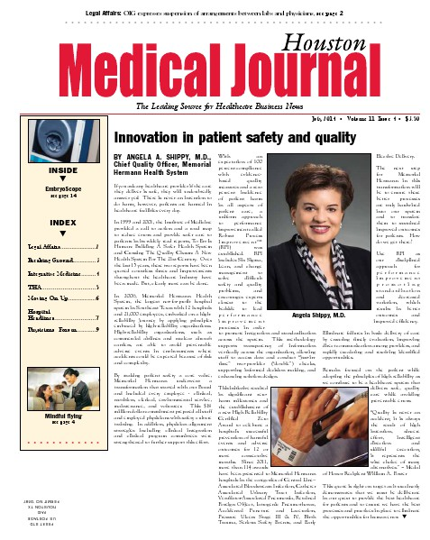 Medical Journal Houston Vol. 10, Issue 16, July 2014