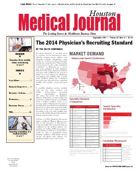 Medical Journal Houston Vol. 12, Issue 18, September 2014