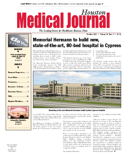 Medical Journal Houston Vol. 11, Issue 7, October 2014