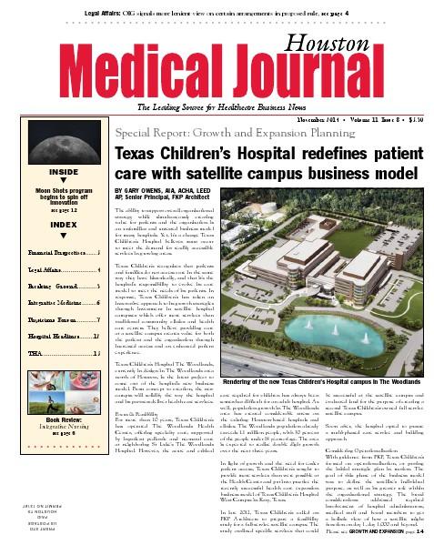 Medical Journal Houston Vol. 11, Issue 8, November 2014