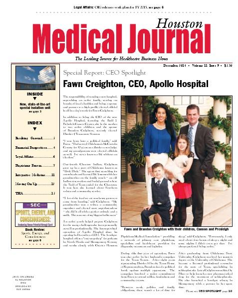Medical Journal Houston Vol. 11, Issue 9, December 2014