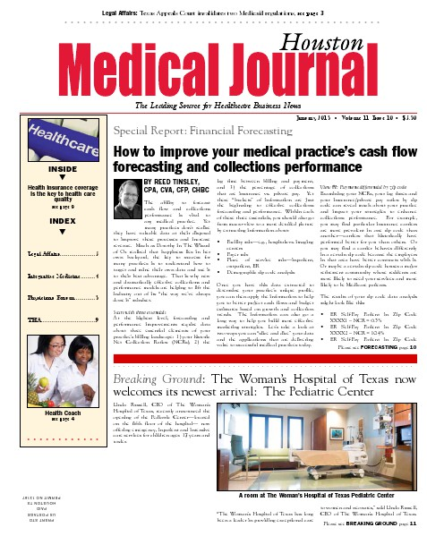 Medical Journal Houston Vol. 11, Issue 10, January 2015