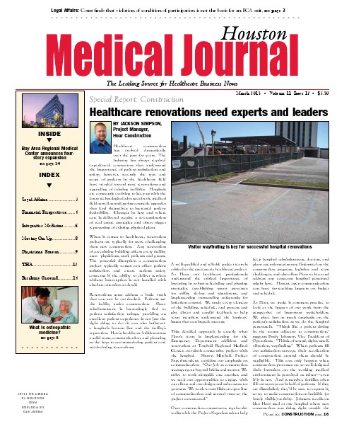 Medical Journal Houston Vol. 11, Issue 12, March 2015