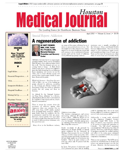 Medical Journal Houston Vol. 11, Issue 13, April 2015