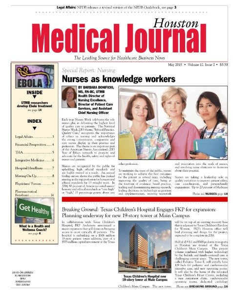 Medical Journal Houston Vol. 11, Issue 14, May 2015