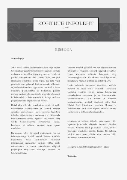 Kohtute infoleht 1/2014