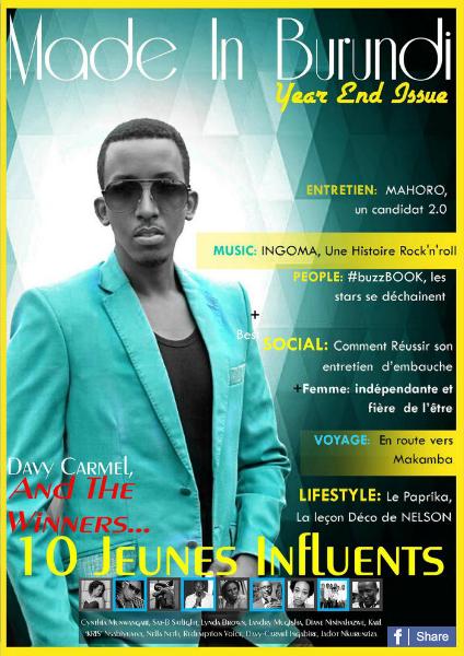 Made In Burundi Les 10 Jeunes Influents
