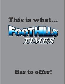 FOOTHILLS TIMES SEPTEMBER 2017