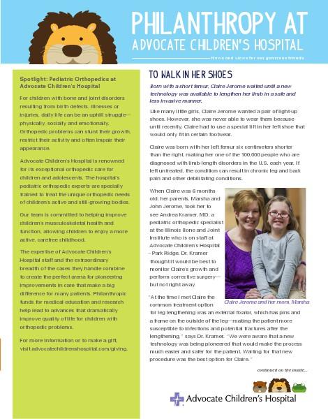 Spring 2014 - Advocate Children's Hospital Insert
