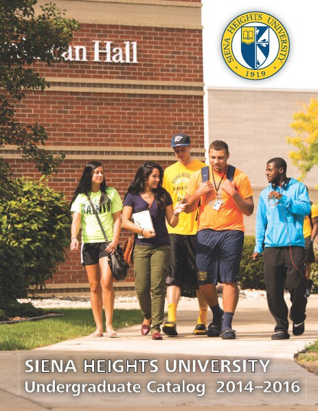 Siena Heights Course Catalogs
