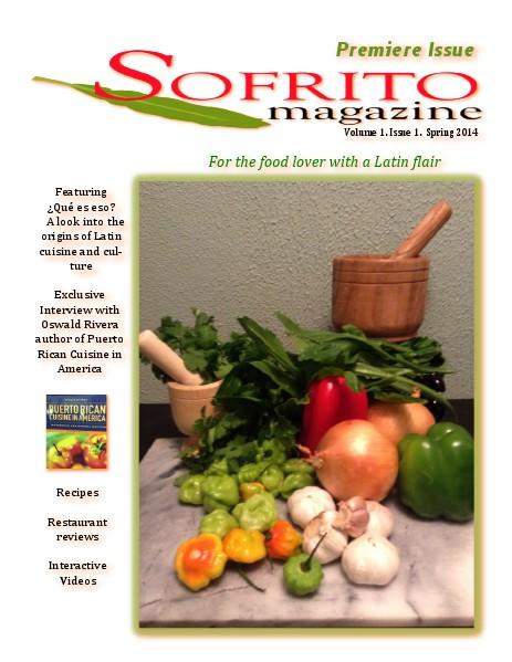 Sofrito Magazine Vol.1 Issue 1 Spring 2014