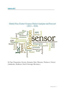 Global Non Contact Sensors Market Analysis and Forecast (2013 – 2018)