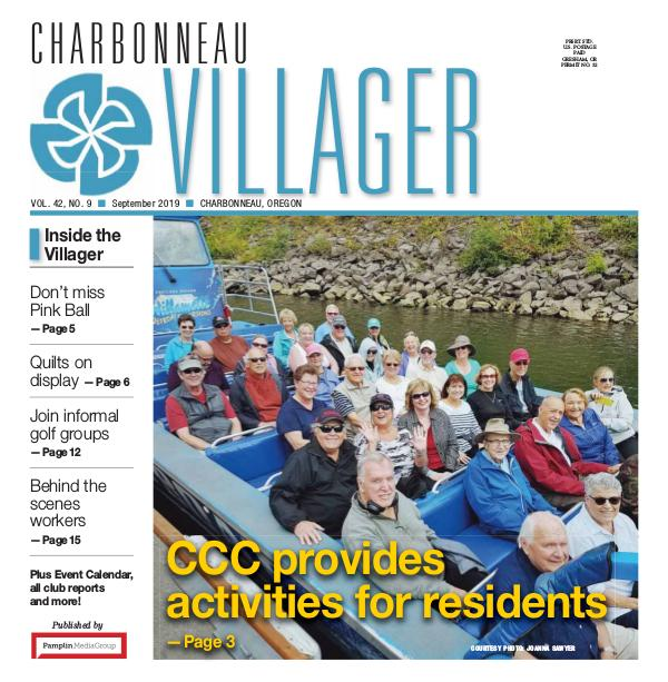 The Charbonneau Villager Newspaper 2019 Sept issue Villager newspaper