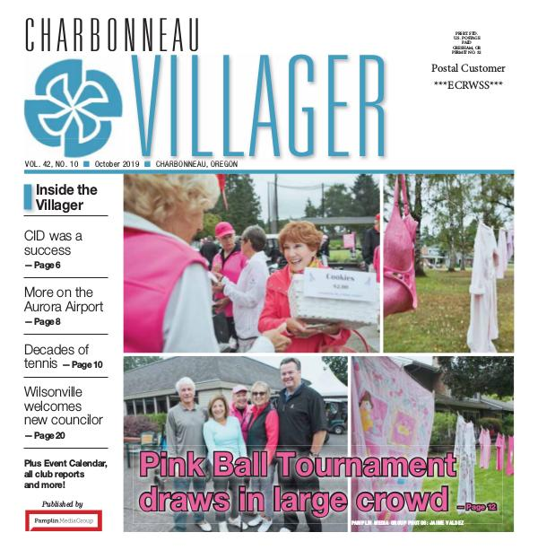 The Charbonneau Villager Newspaper 2019 Oct issue Villager newspaper