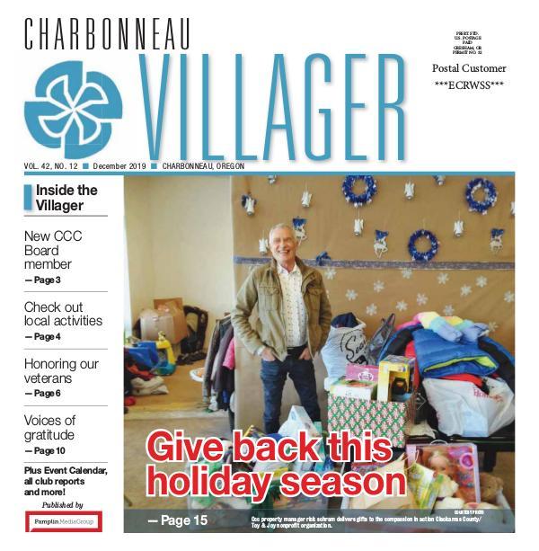 The Charbonneau Villager Newspaper 2019_ Dec issue Villager newspaper