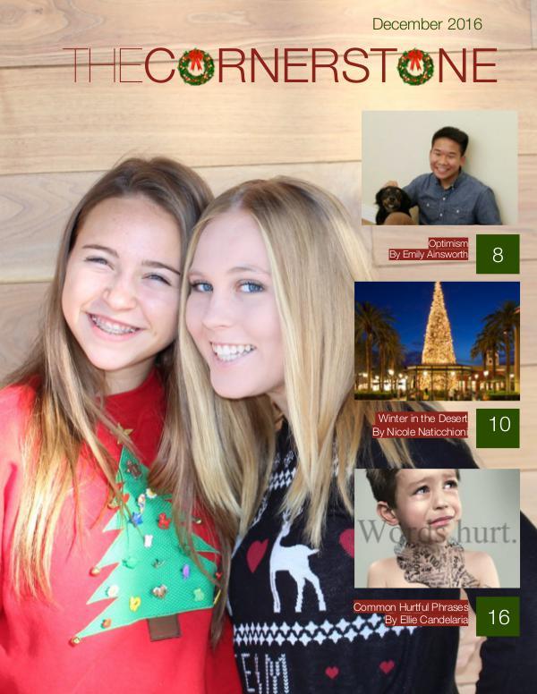 The Cornerstone December Issue
